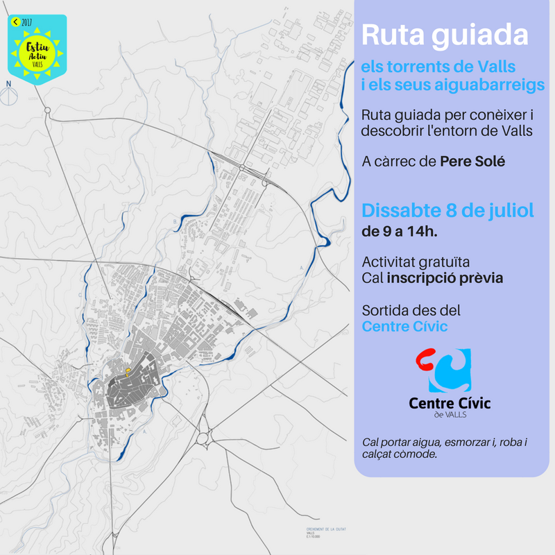 Ruta guiada pels torrents de Valls