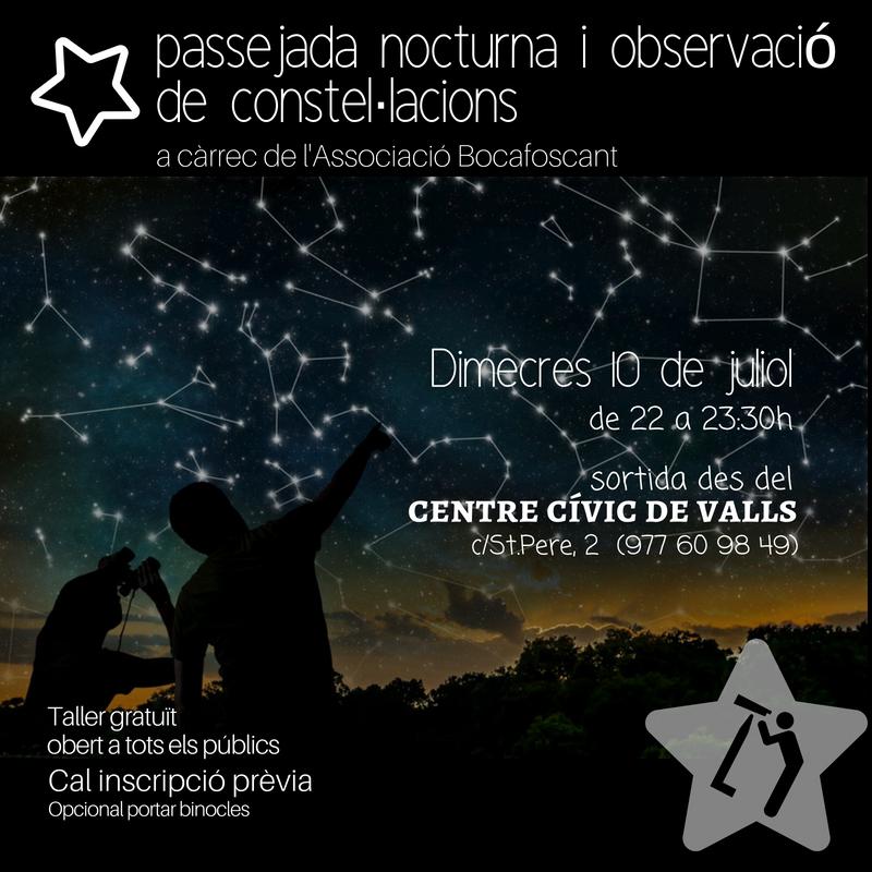 Passejada nocturna i observació de constel·lacions