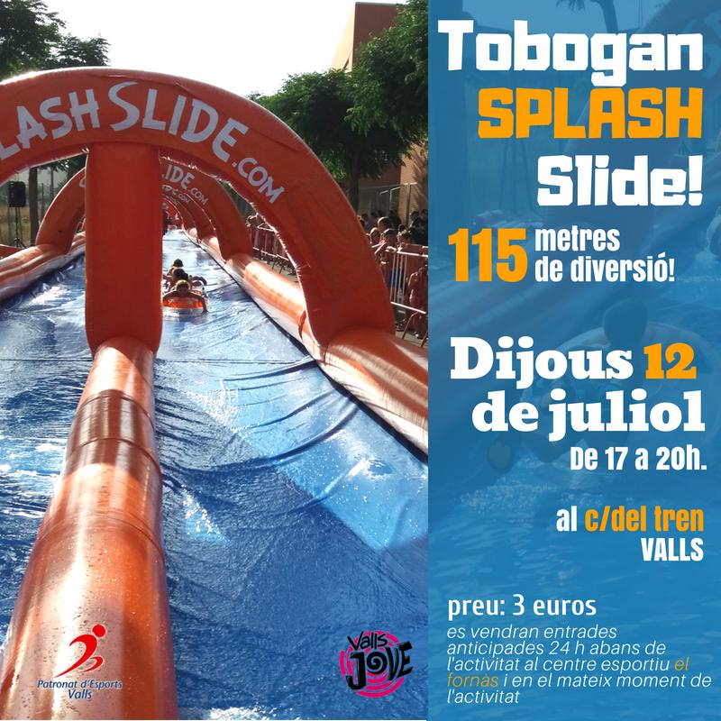 Tobogan splash slide