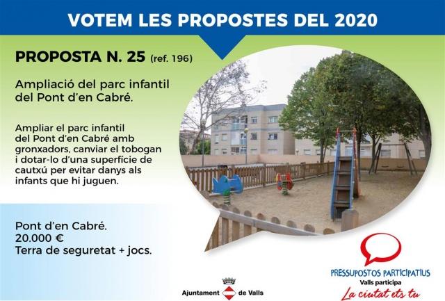 Ampliació del parc infantil del Pont d'en Cabré