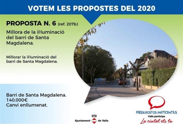 Millora de la il.luminació del barri de Santa Magdalena