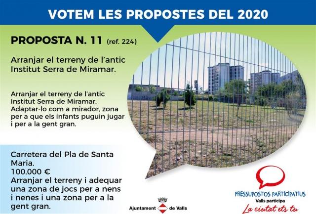 Arrengar el terreny de l'antic Institut Serra de Miramar