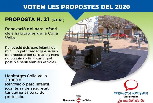Renovació del parc infantil dels habitatges de a Colla Vella