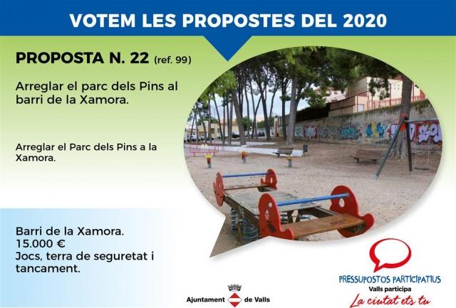 Arreglar el parc dels Pins al barri de la Xamora