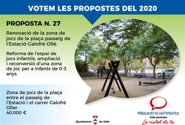 Renovació de la zona de jocs de la plaça passeig de l'Estació-Galofré Ollé