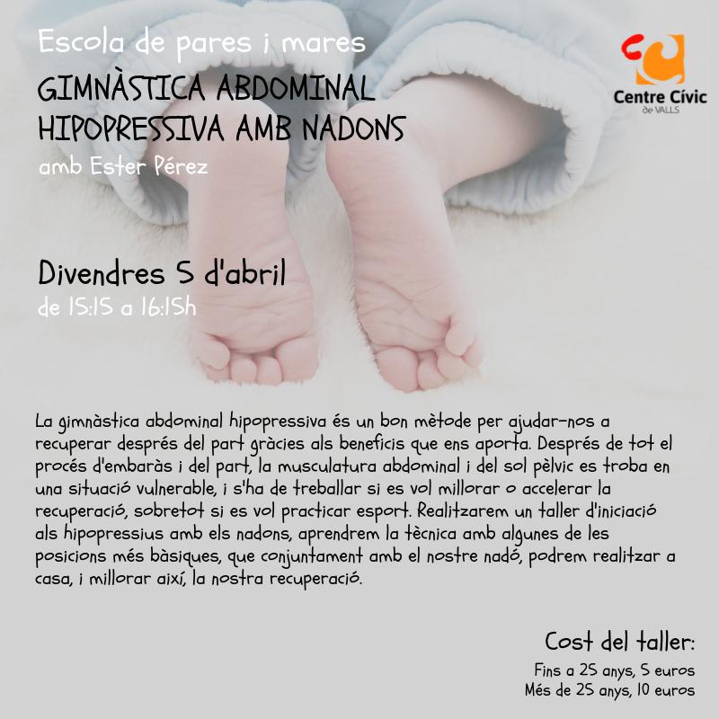 Gimnàstica abdominal hipopressiva amb nadons