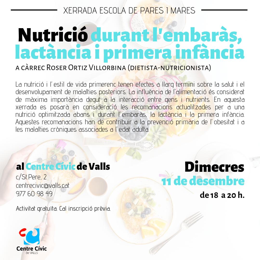 Nutrició embaràs i lactància