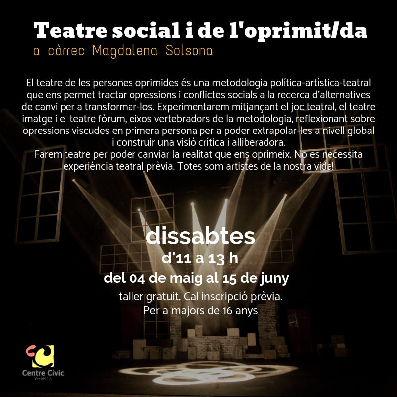 Teatre social i de l'oprimit