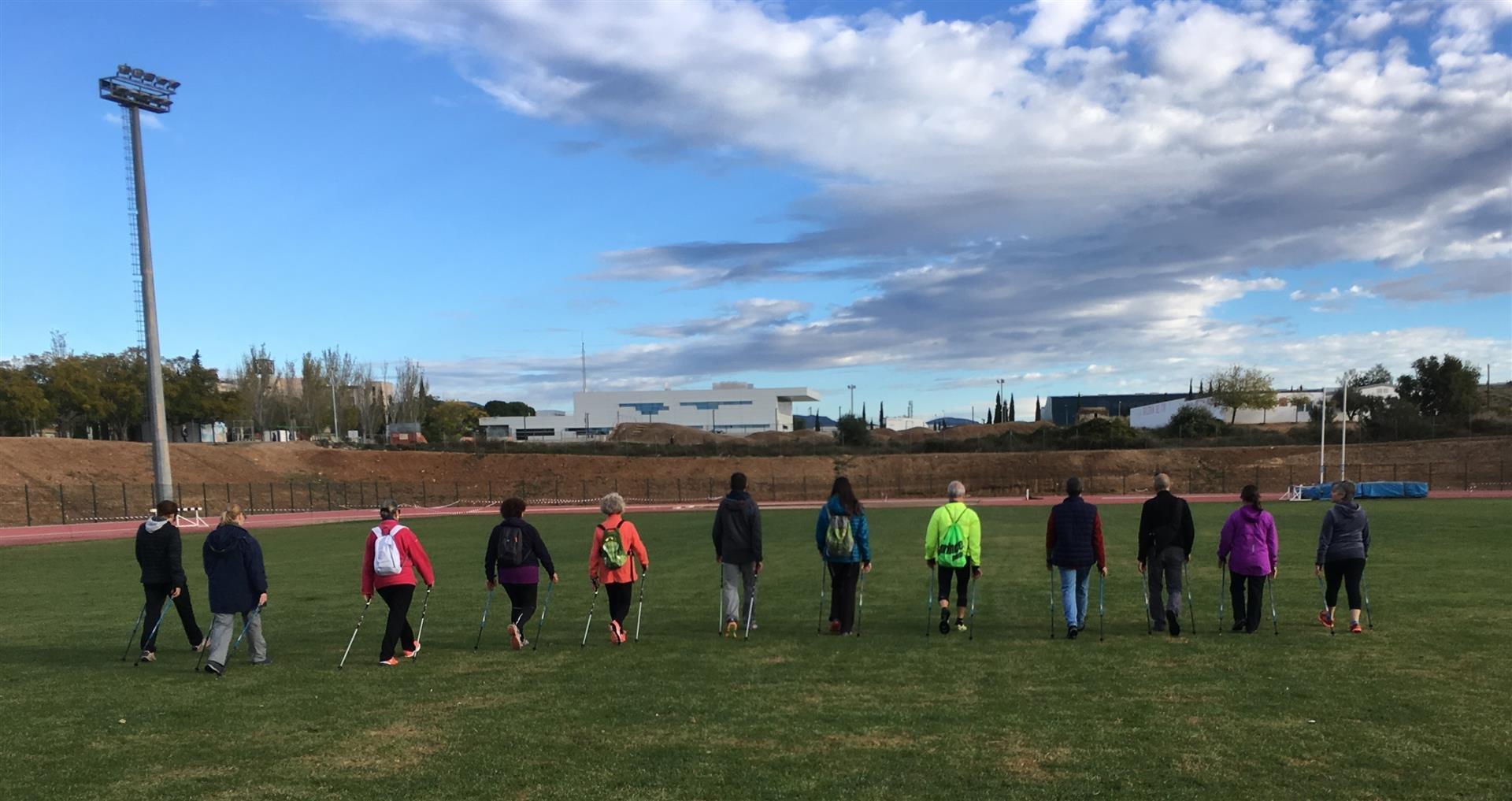 Tret de sortida a la nova temporada de marxa nòrdica del Patronat Municipal d'Esports